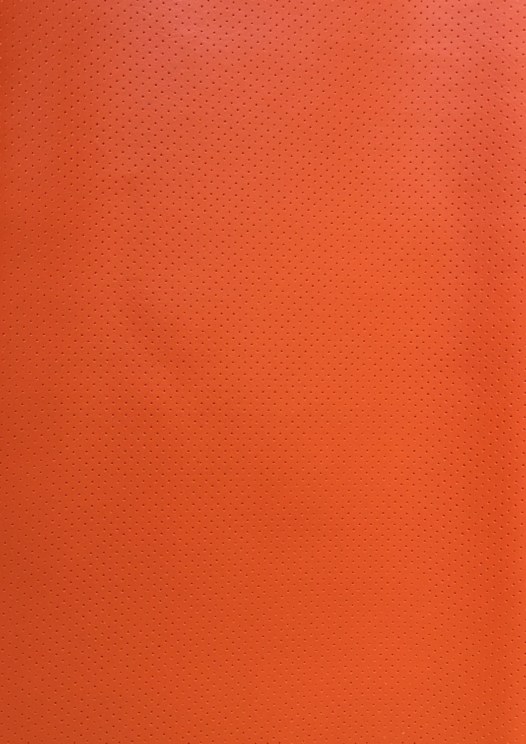"Orange Perforated Faux Leather Vinyl 55"" Wide 
