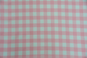 "Pink White Checker Print Gingham Polyester Poplin 59"" Wide 