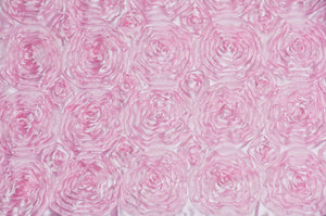 "Satin Pink Rosette wedding dress fabric 54"" wide sold by yard home decor"