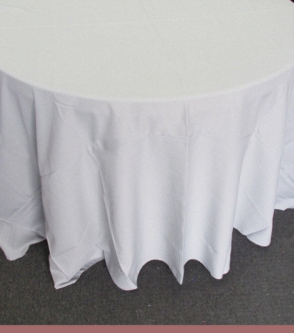 "Set of 5 Grey Polyester Polypoplin Round 108"" Tablecloths 