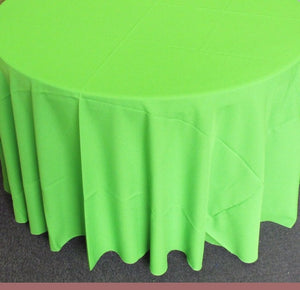 "1 Piece Lime Polyester Polypoplin Round 108"" Tablecloths 