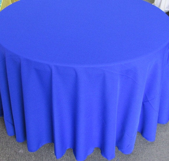 "Set of 5 Royal Polyester Polypoplin Round 108"" Tablecloths 