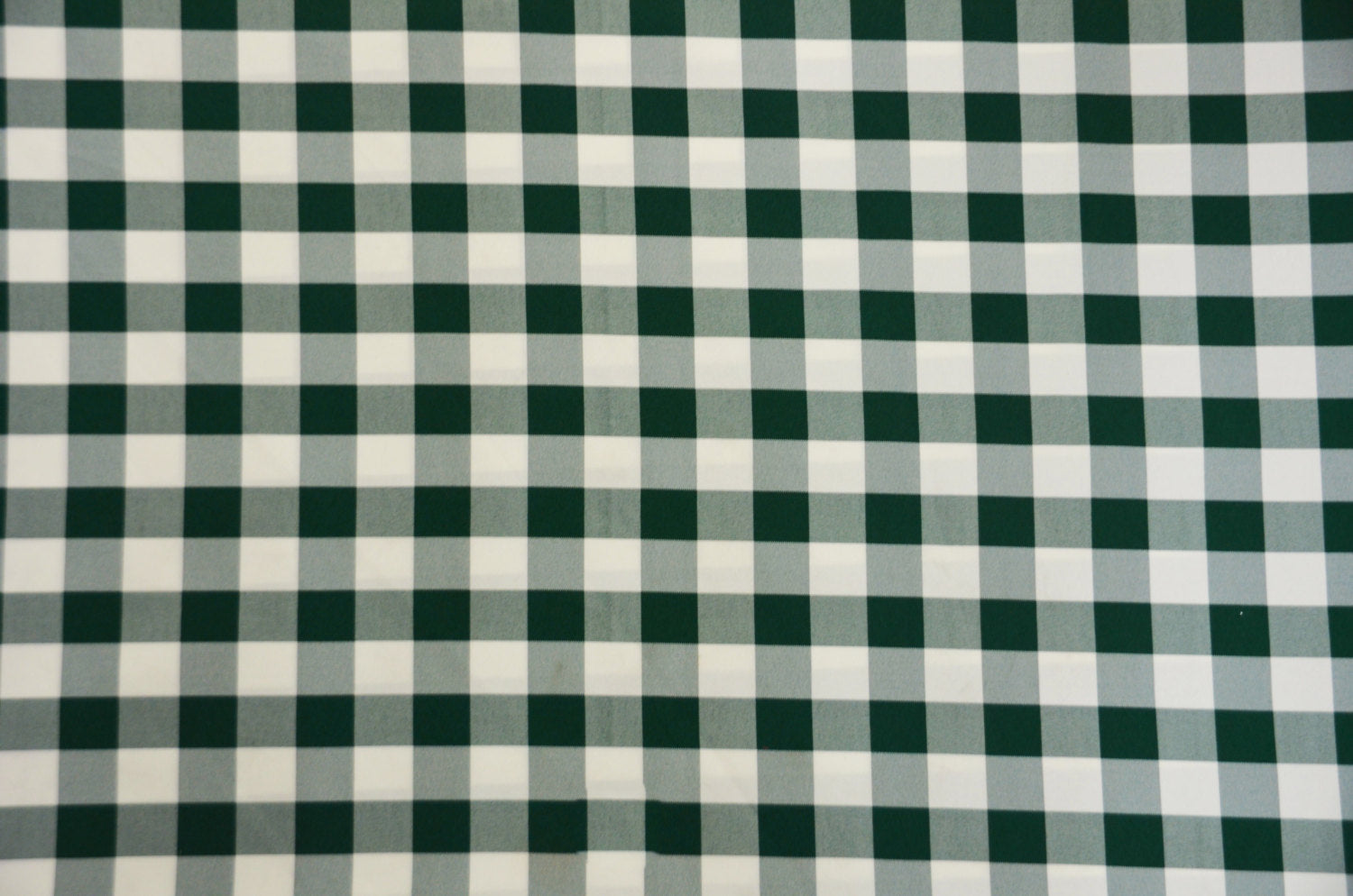 "Hunter White Checker Print Gingham Polyester Poplin 59"" Wide 