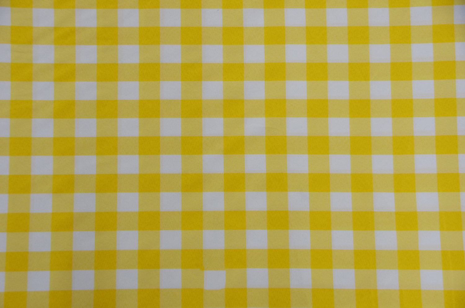 "Yellow White Checker Print Gingham Polyester Poplin 59"" Wide 