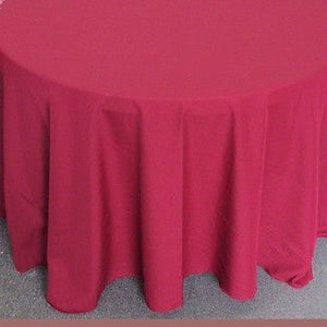 "Set of 5 Burgundy Polyester Polypoplin Round 108"" Tablecloths 