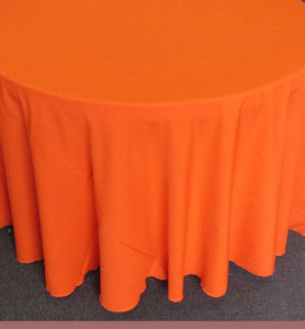 "1 Piece Orange Polyester Polypoplin Round 108"" Tablecloths 