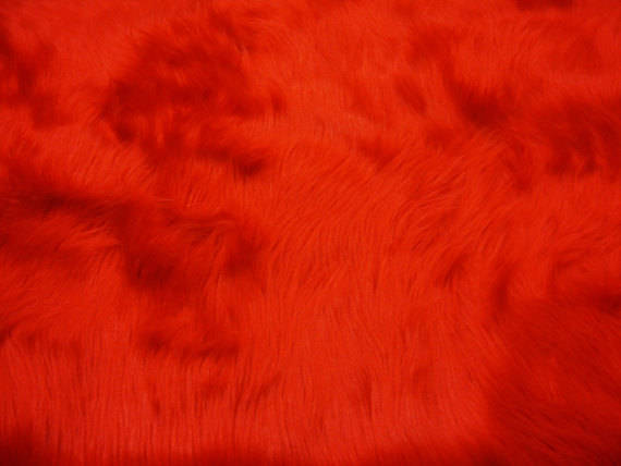 Red Mongolian Plush Faux Fur Suede Back Throw Blanket || Home Décor