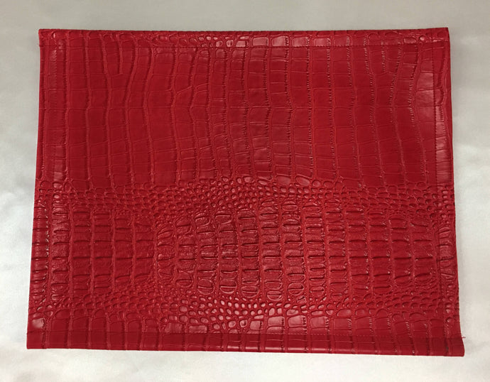 1 cover, Nile Red, faux leather vinyl 18x18 with zipper sofa bed couch chair throw home decor
