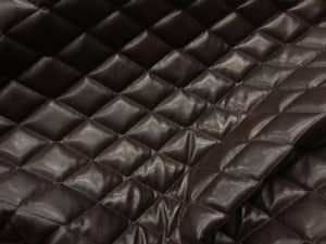 "Dark Brown Quilted Vinyl with Suede Back 14""x30"" Recliner Furniture Protector Cover 