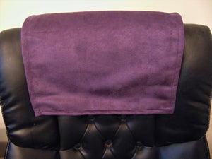 "Aubergine Suede 14""x30"" Recliner Furniture Protector Cover 
