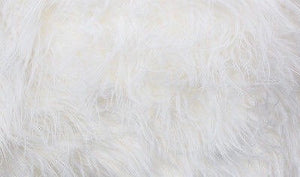 "White Faux Fur with Suede Back 14""x30"" Recliner Furniture Protector Cover 