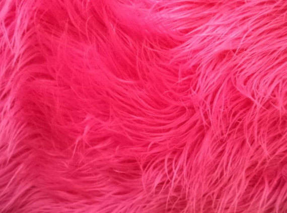 Fuchsia Mongolian Plush Faux Fur Suede Back Throw Blanket || Home Décor