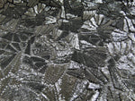 "Load image into Gallery viewer, Charcoal Sheer Second Skin Sequin Knit 54"" Wide 