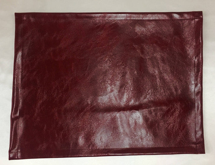 Vinyl, Burgundy Distressed,15x15, Sofa, Loveseat, Chaise, Theater Seat, RV Cover, Chair Caps, Headrest Pad, Recliner Head Cover, arm rest