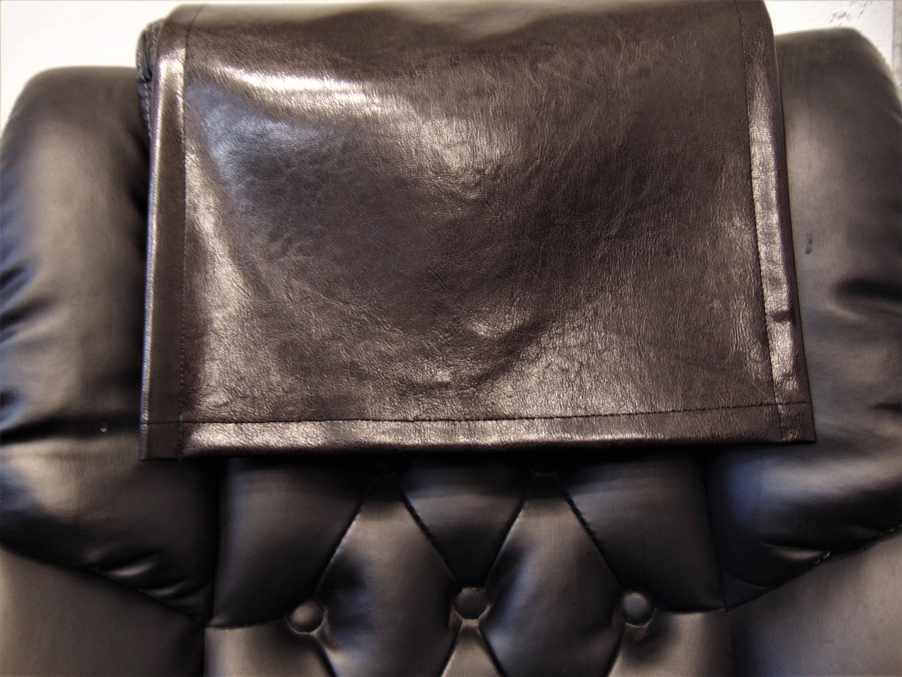 "Dark Brown Houston Vinyl 16""x16"" Recliner Furniture Protector Cover 