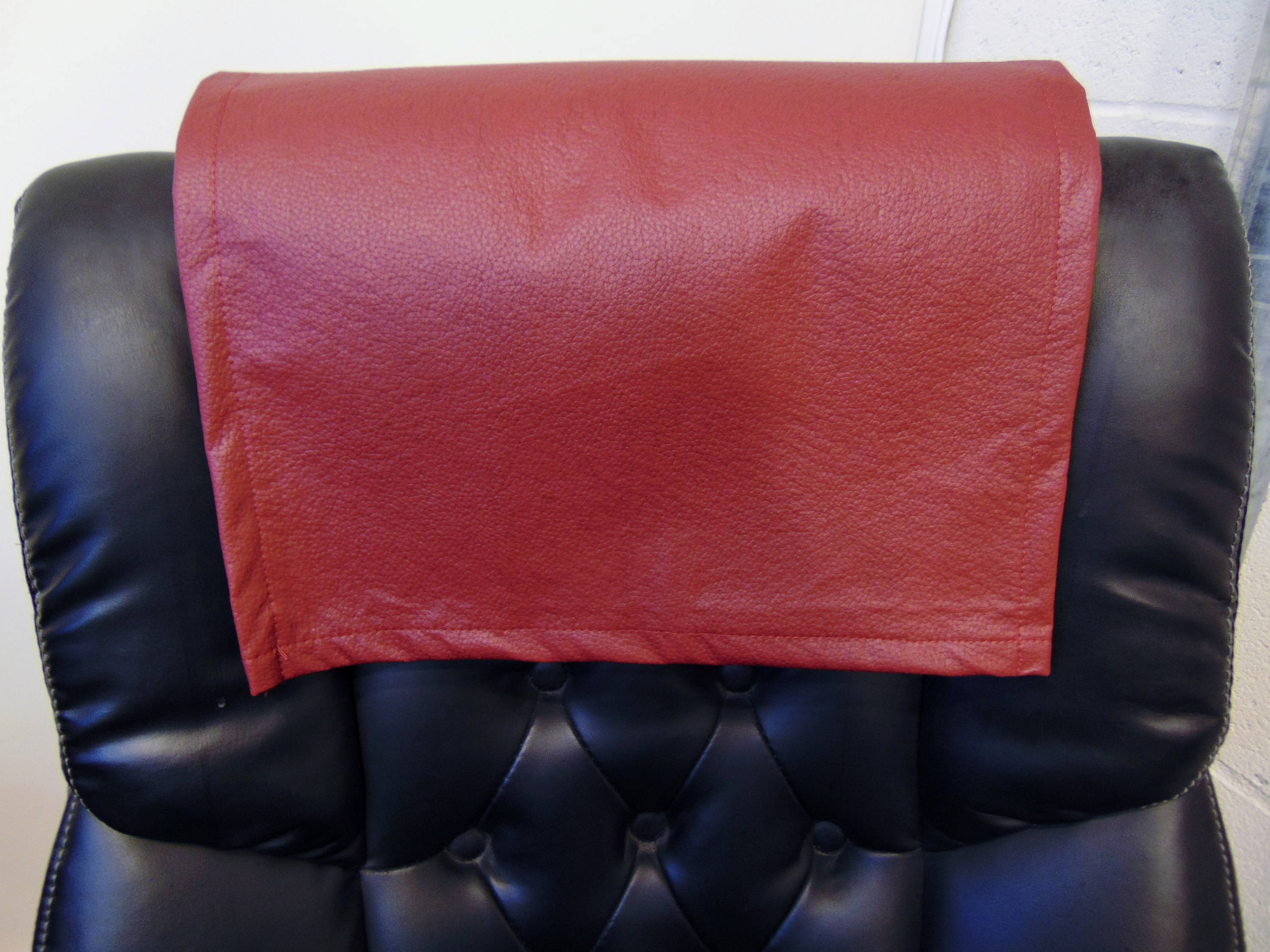 "Cinnabar Champion Faux Leather Vinyl 15""x15"" Recliner Furniture Protector Cover 
