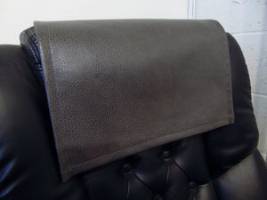 "Gray Ford Faux Leather Vinyl 15""x15"" Recliner Furniture Protector Cover 