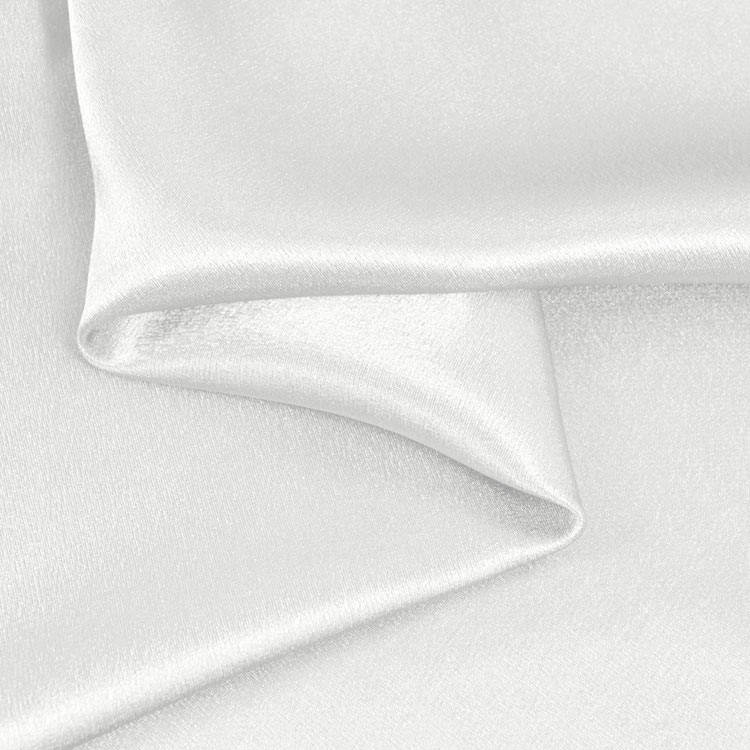 "White Shimmer Japanese Style Crepe Satin 60"" Wide 