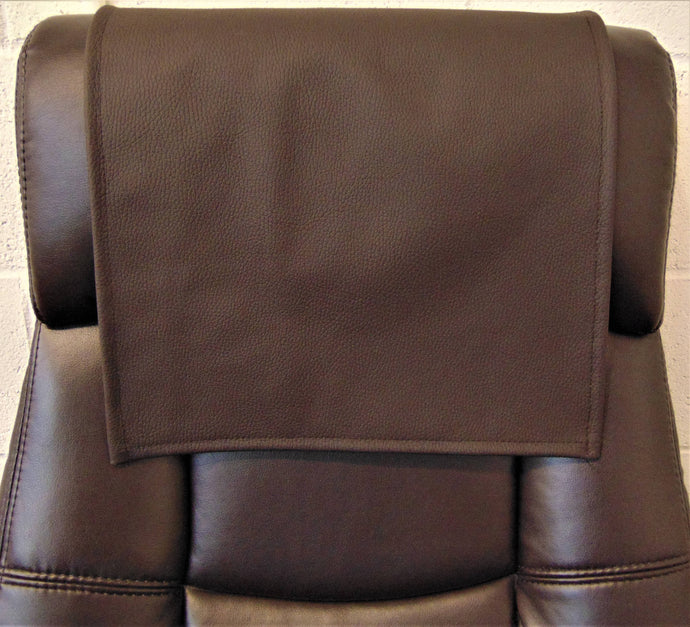 Genuine Italian Leather, Dark Brown 30x30 Sofa, Chaise Theater Seat, RV Cover, Chair Caps Headrest Pad, Recliner Head Cover, Protector