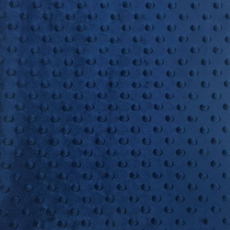 Navy Soft Minky Dimple Dot Faux Fur Fabric 60"