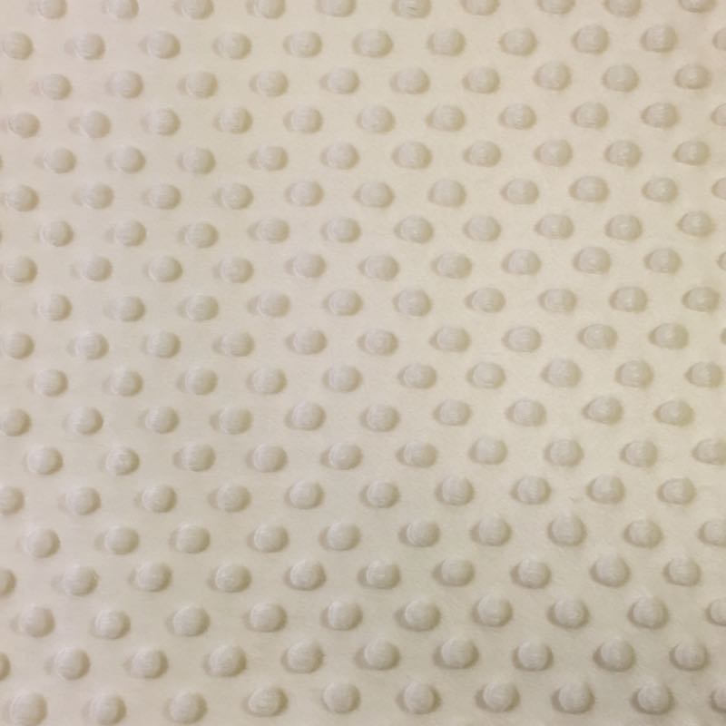 Ivory Soft Minky Dimple Dot Faux Fur Fabric 60"