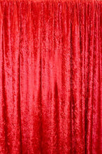 Load image into Gallery viewer, Panne Velvet Crushed Backdrop Velour Stretch Fabric 60 Wide Red By yard Photos, Draping, Curtains, Appeal Dresses 100% POLYESTER