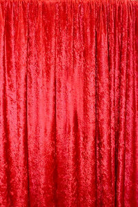 "Red Panne Velvet Crush 2-WAY Stretch 60"" Wide 