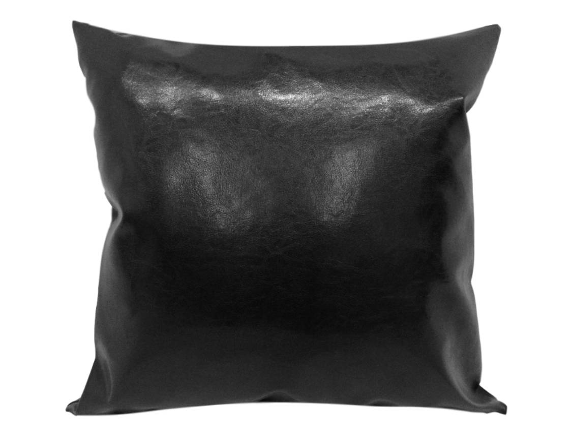 "Black Faux Leather 20"" x 36"" Pillow 