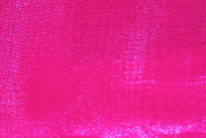 "Hot Pink Sheer Crystal Polyester Organza 58"" Wide 
