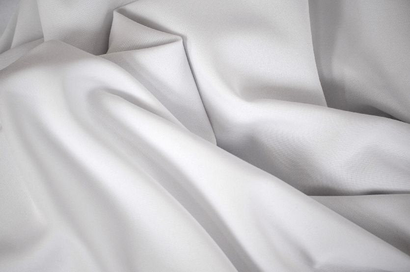 "White Solid Polyester Polypoplin 60"" Wide 