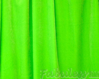 "Lime 4-WAY Spandex Stretch Velvet 60"" Wide 