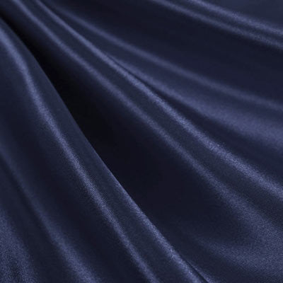 "Navy Semi Shiny Charmeuse Satin Fabric 60"" wide 