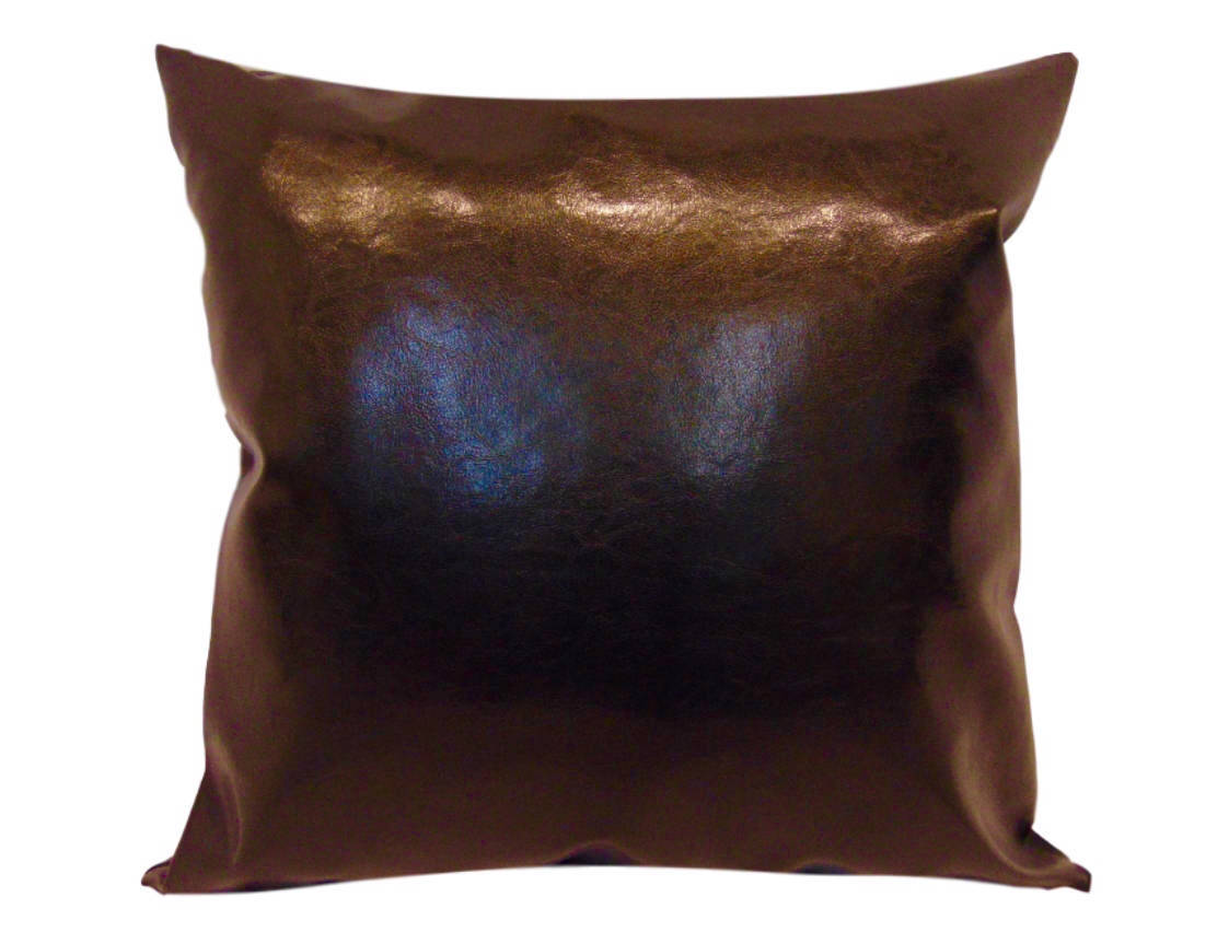 "Chocolate Faux Leather 20"" x 36"" Pillow 
