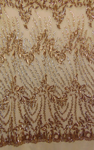 "Gold Eggnog SUTRA Sequin Strech Mesh 55"" Wide 