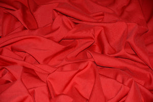 "Red Solid Polyester Polypoplin 60"" Wide 