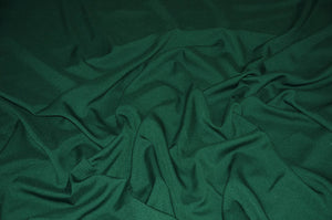 "Hunter Green Solid Polyester Polypoplin 60"" Wide 
