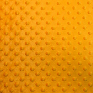 Canary Yellow Soft Minky Dimple Dot Faux Fur Fabric 60"