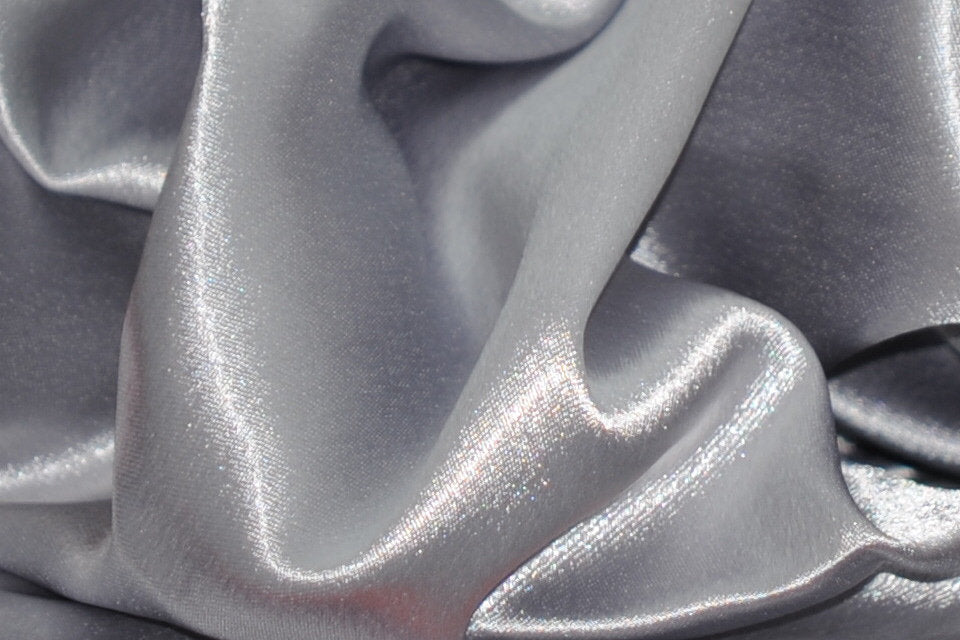 "Silver Shimmer Japanese Style Crepe Satin 60"" Wide 