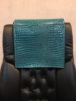 "Load image into Gallery viewer, Aqua Crocodile Vinyl 14""x30"" Recliner Furniture Protector Cover 