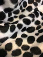 "Load image into Gallery viewer, Set of 6 Black White Dalmatian Velboa Minky Faux Fur 18"" x 18"" Pillows 
