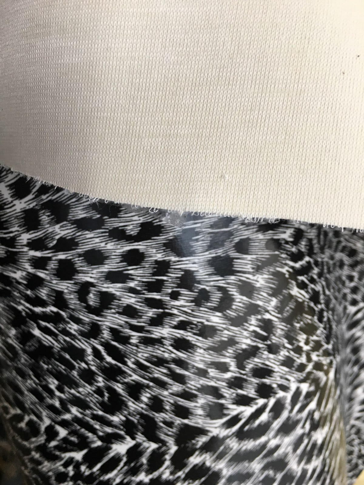 "Black Cheetah Faux Leather Vinyl 54"" Wide 