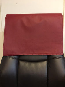 "Cinnabar Red Champion Vinyl 15""x15"" Recliner Furniture Protector Cover 