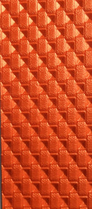 "Orange Tangerine Morbern Premium Marine Gade Faux Leather Vinyl 54"" Wide 