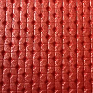"Red Rosette Faux Leather Vinyl 54"" Wide 