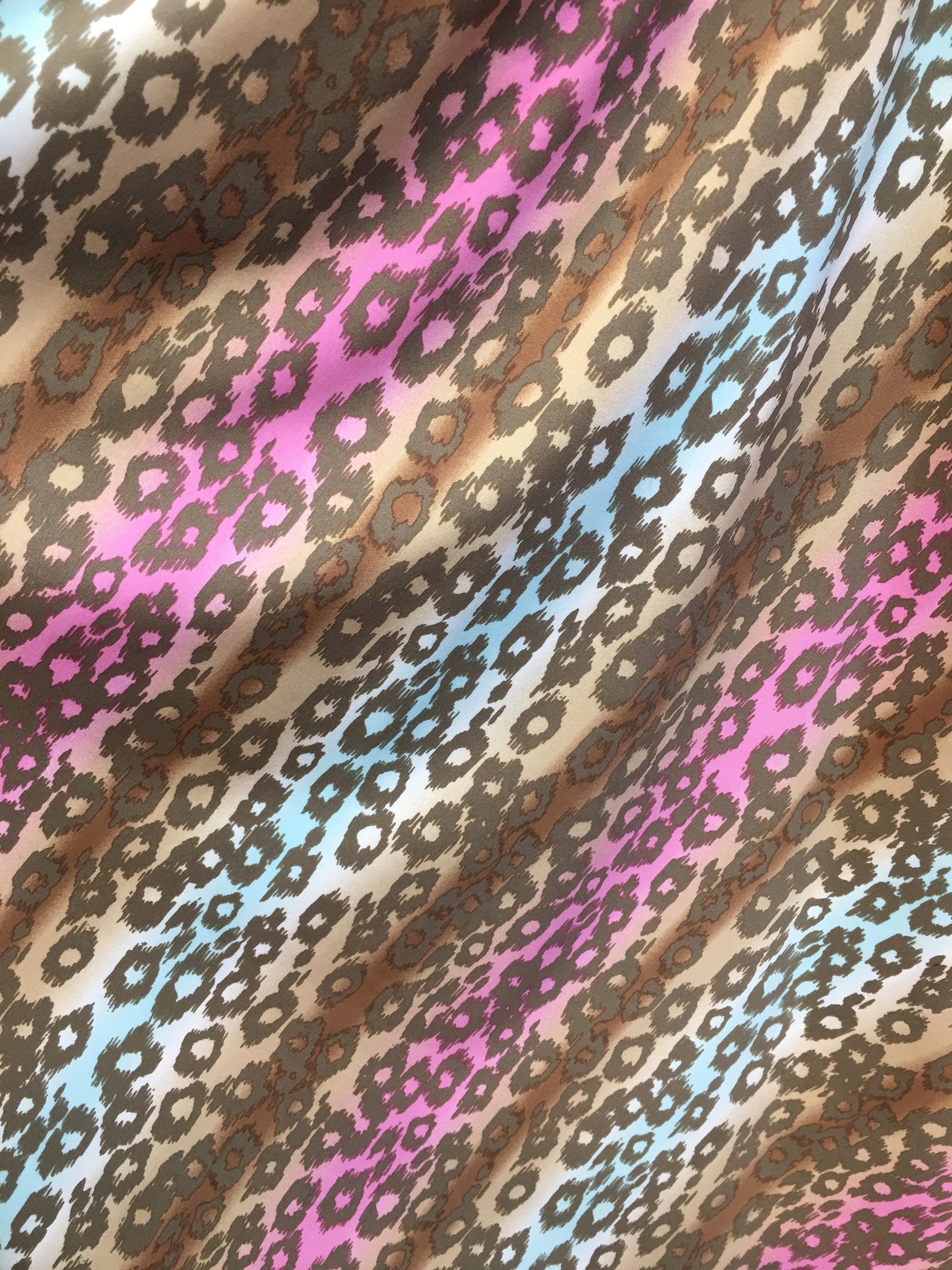 "Pastel Leopard Spandex Lycra 60"" Wide 