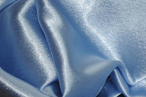 "Sky Blue Shimmer Japanese Style Crepe Satin 60"" Wide 