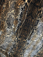 "Load image into Gallery viewer, Snake Print 4-WAY Spandex Stretch Velvet 60"" Wide 