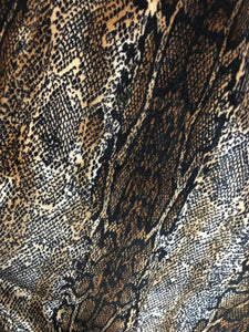 "Snake Print 4-WAY Spandex Stretch Velvet 60"" Wide 