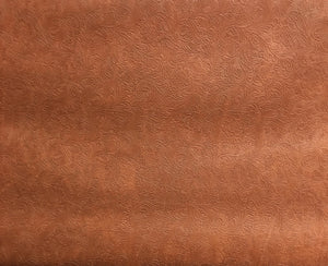 "Bourbon Western Embossed Faux Leather Vinyl 54"" Wide 
