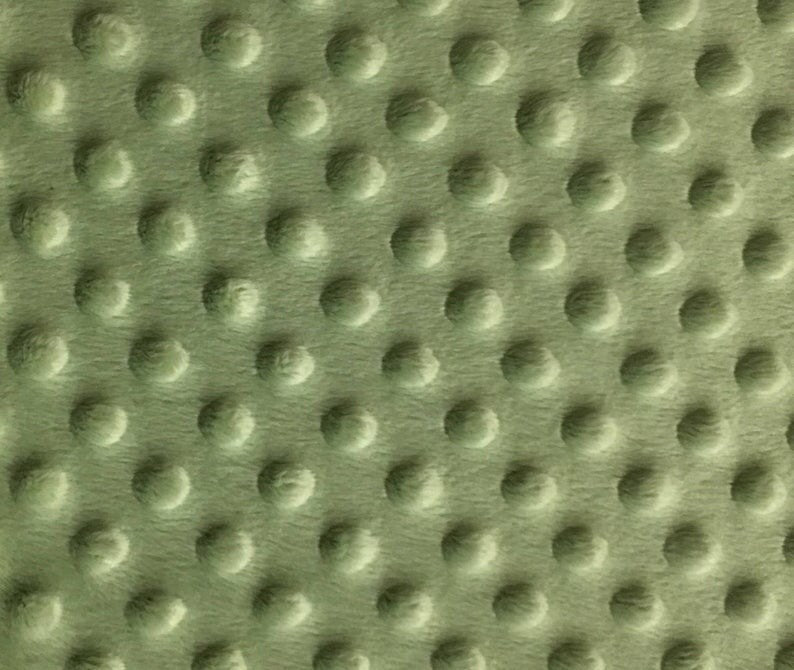 Asparagus Soft Minky Dimple Dot Faux Fur Fabric 60"
